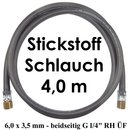 Stickstoff Schlauch 4,0 m - 6,0 x 3,5 mm 20 bar...