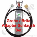 CO2 Adapter Schlauch Set Länge 1,0 m + 2 kg CO2 Flasche...